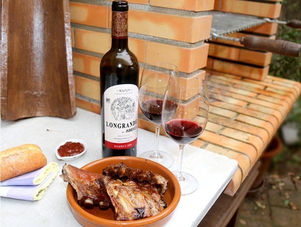 Botella de vino longrande reserva